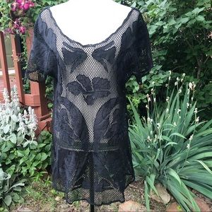 Anthropologie Lilka Black Swim Coverup S